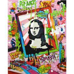 """Nastya Rovenskaya- Mixed Media """"Mona Lisa"""""""