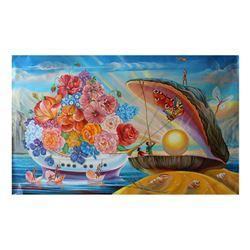 "Eugene Poliarush- Original Oil on Canvas ""Pandora's Box"""