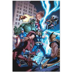 """Marvel Comics """"Marvel Adventures: The Avengers #31"""" Numbered Limited Edition Giclee on Canvas by Sal"""