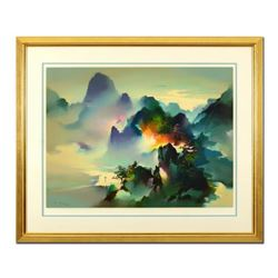 """H. Leung, """"Mountain Rhapsody"""" Framed Limited Edition, Numbered 142/275 and Hand Signed with Letter o"""