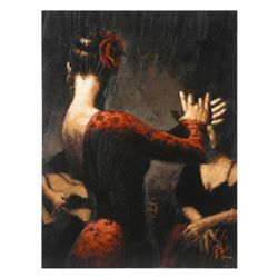 """Fabian Perez, """"Tablado Flamenco"""" Hand Textured Limited Edition Giclee on Board. Hand Signed and Numb"""
