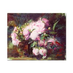 "Pino (1939-2010), ""Peonies"" Artist Embellished Limited Edition on Canvas, AP Numbered and Hand Signe"