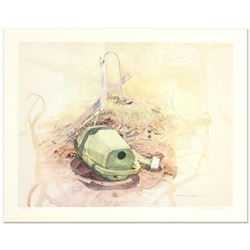 "William Nelson, ""Green Watering Can"" Limited Edition Lithograph, Numbered and Hand Signed by the Art"
