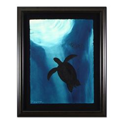 "Wyland, ""Turtle"" Framed Original Watercolor Painting, Hand Signed with Certificate of Authenticity."