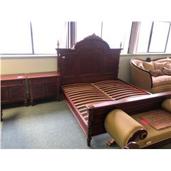 MEZZANOTTE 5 PC KING BEDROOM SUITE INCLUDES: KING HEADBOARD AND FOOTBOARD, RAILS, 2 NIGHT STANDS