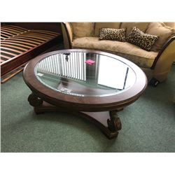 MICHAEL AMINI VICTORIA PALACE GLASS TOP COFFEE TABLE.  RETAIL $2,999.00