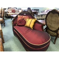MICHAEL AMINI OPPULANTE FORMAL CHAISE LOUNGE WITH THROW CUSHIONS. RETAIL $4,466.00