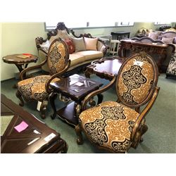 PAIR OF MICHAEL AMINI LAVELLE OVAL CHAIRS.  RETAIL $2,350.00 EACH