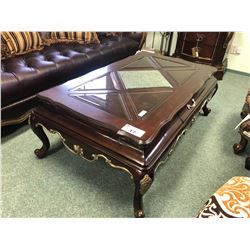 FORMAL COCKTAIL TABLE AND END TABLE SET.  APPROXIMATE RETAIL $2,500.00