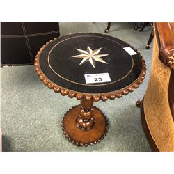 INLAYED TOP FANCY ACCENT TABLE.  RETAIL $1,099.00