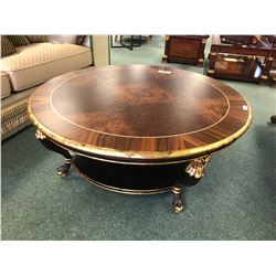 MICHAEL AMINI 2 PC ROUND COFFEE AND END TABLE SET.  APPROXIMATE RETAIL $6,400.00