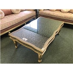 3 PC SCHNADIG COCKTAIL SET WITH COCKTAIL TABLE AND 2 END TABLES.  APPROXIMATE RETAIL $9,000.00