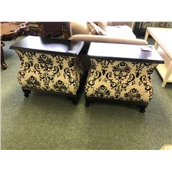 PAIR OF 3 DRW. ACCENT CHESTS.