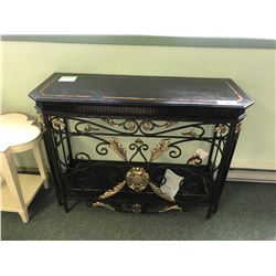 MICHAEL AMINI DISCOVERIES MARBLE TOP CONSOLE TABLE.  $2,800.00