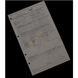 "Back to the Future - Original Production Call Sheet Featuring Eric Stoltz as ""Marty"" – V391"