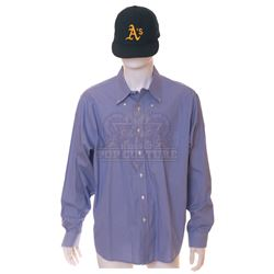 Moneyball – Peter Brand's (Jonah Hill) Dress Shirt & Baseball Cap – V519