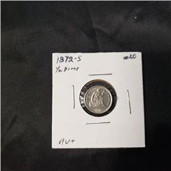1872-S Liberty Seated Half Dime