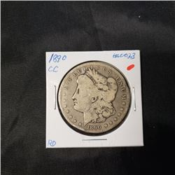 1890-CC Morgan Dollar