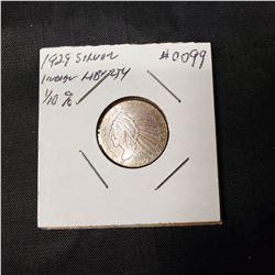 1929 Silver Indian Head  1/10 Oz