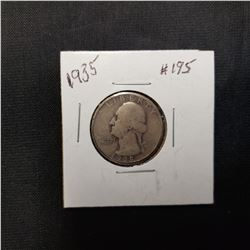 1935 Washington Quarter Grade: VG