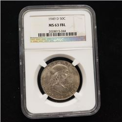 1949 D Franklin Head Half