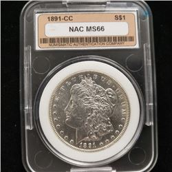 1891 CC Morgan Dollar