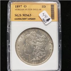 1897 O Morgan Dollar