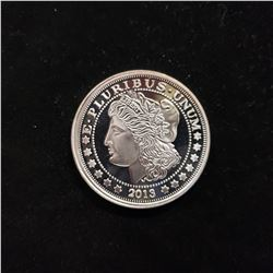 2013 Morgan Head  1 Oz .999 Silver