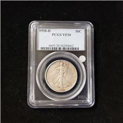 1938 D Walking Liberty Head Half