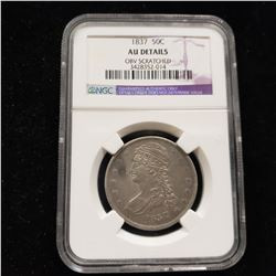 1837 Bust Head Half Dollar