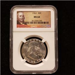 1962 Franklin Head Half Dollar
