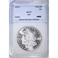 1879-S MORGAN DOLLAR NNC SUPERB GEM BU DMPL