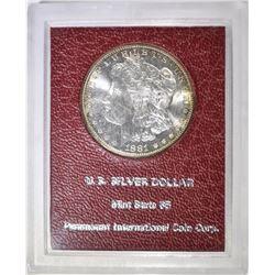 1881-S MORGAN DOLLAR IN PARAMOUNT GEM BU HOLDER