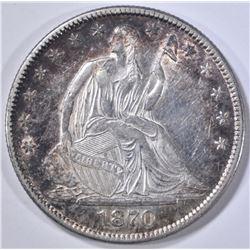 1870 SEATED LIBERTY HALF DOLLAR BU