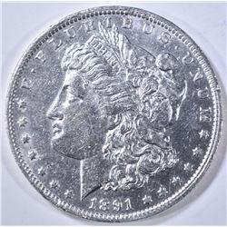 1891-O MORGAN DOLLAR AU/BU