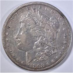 1893-CC MORGAN DOLLAR VF+