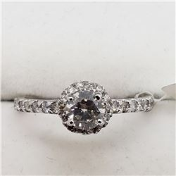 14K WHITE GOLD DIAMOND RING SIZE 5.75
