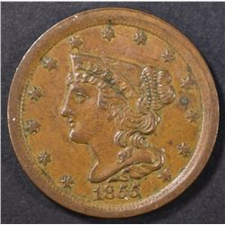 1855 HALF CENT  CH UNC
