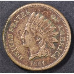 1861 INDIAN CENT  VF/XF