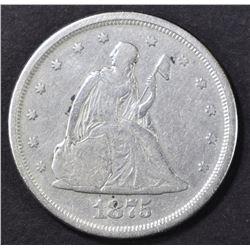 1875-S TWENTY CENTS SEATED LIBERTY  VF/XF