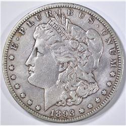 1893-CC MORGAN DOLLAR  XF