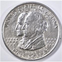 1921 ALABAMA COMMEM HALF DOLLAR  BU OLD CLEANING