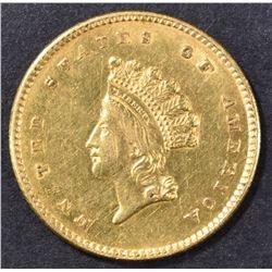 1854 TYPE 2 $1 GOLD INDIAN PRINCESS  SELECT/CH BU