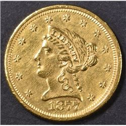 1877 $2.5 GOLD LIBERTY  CH BU  MINTAGE 1632