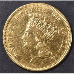 1856-S $3 GOLD INDIAN PRINCESS AU