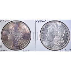 LOT OF 2 MORGAN DOLLARS: