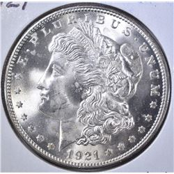 1921 MORGAN DOLLAR  GEM BU