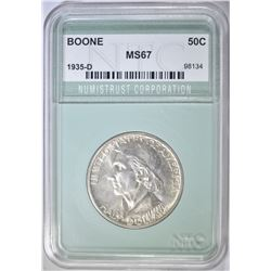 1935-D BOONE COMMEM HALF DOLLAR  NTC SUPERB GEM
