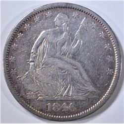 1846-O SEATED LIBERTY HALF DOLLAR  XF