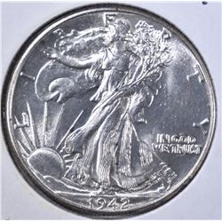 1942 WALKING LIBERTY HALF DOLLAR  GEM BU
